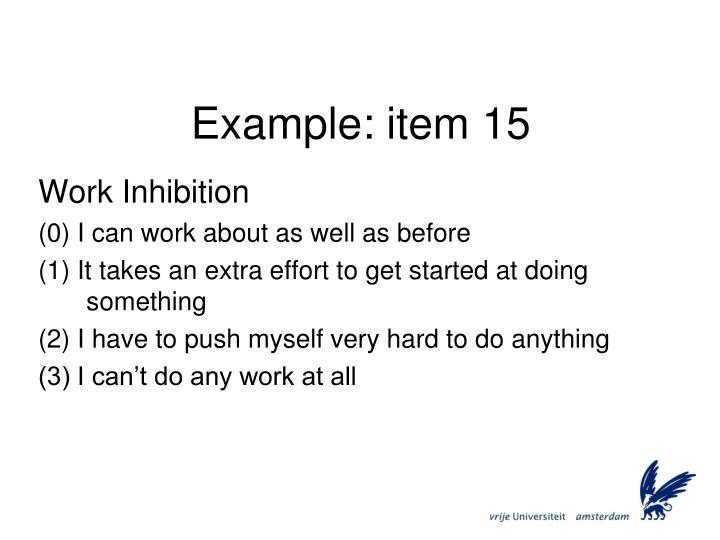 Example: item 15