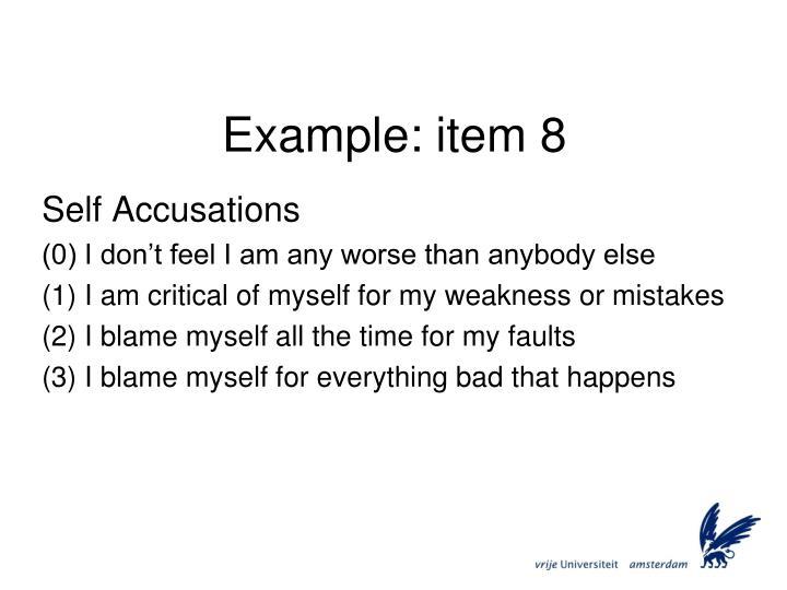 Example: item 8