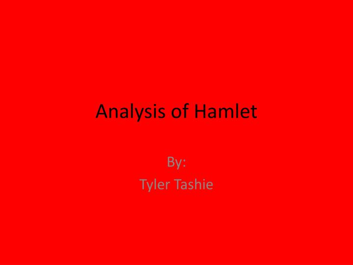 Analysis of hamlet