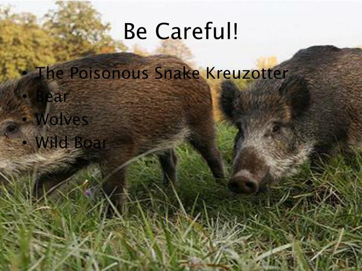 Be Careful!