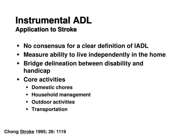 Instrumental ADL
