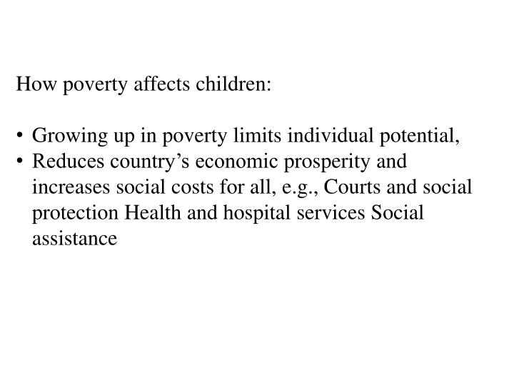 How poverty affects children: