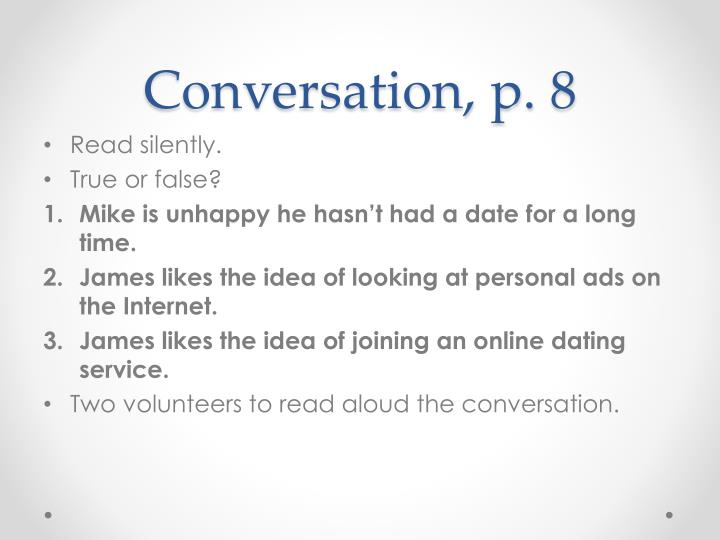 Conversation, p. 8