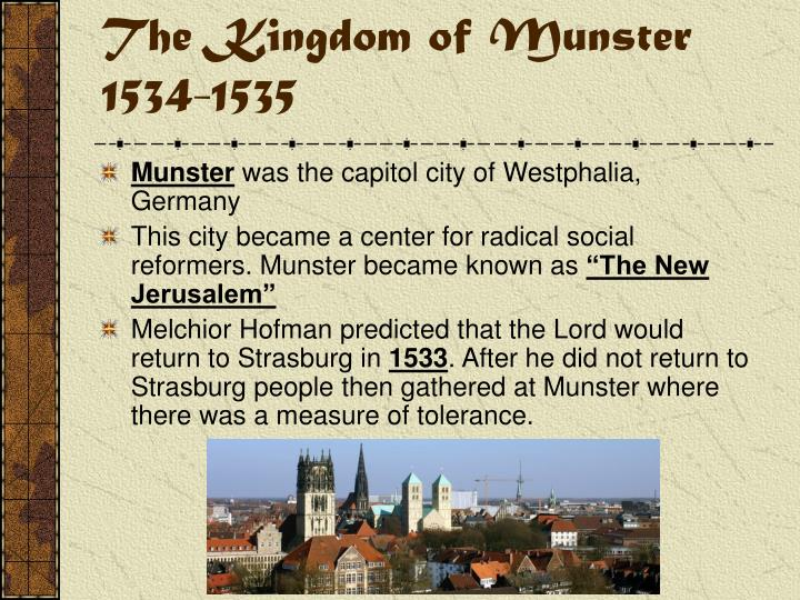 The Kingdom of Munster 1534-1535