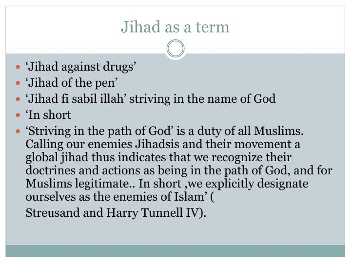 Jihad as a term