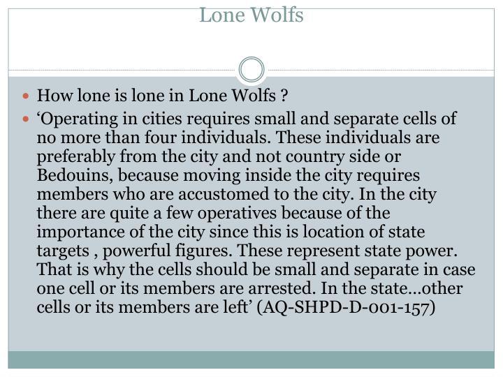 Lone Wolfs