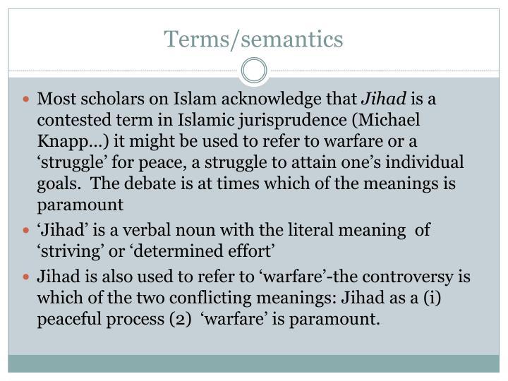 Terms/semantics