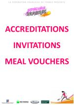 accreditations invitations meal vouchers