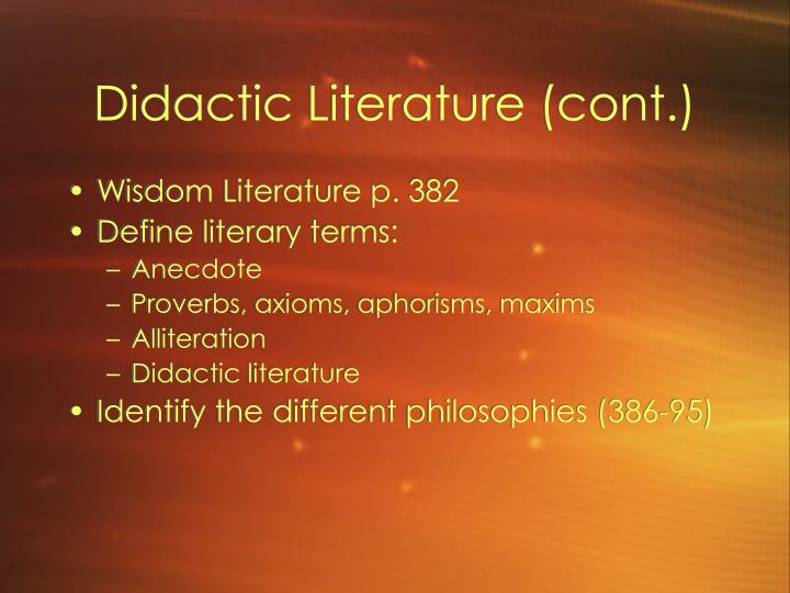 meaning of a didactic essay Didactics definition, intended for instruction instructive: didactic poetry see more.