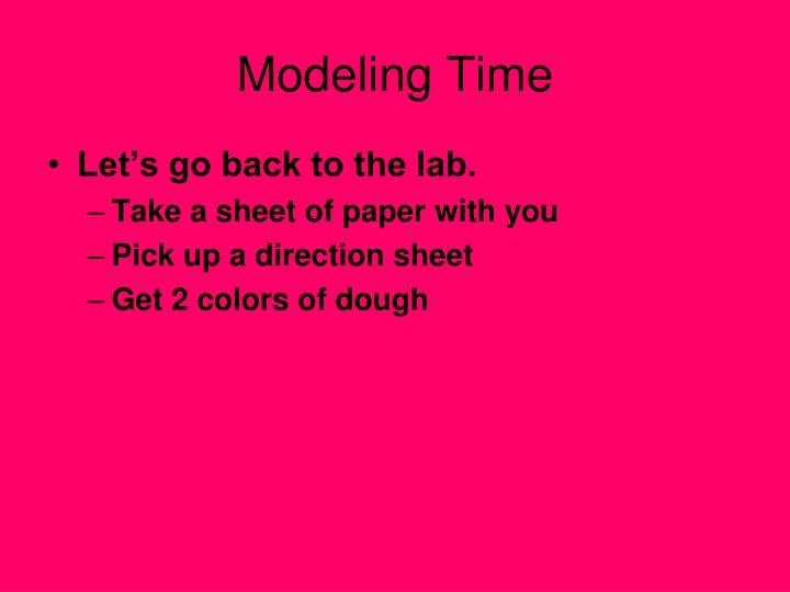 Modeling Time