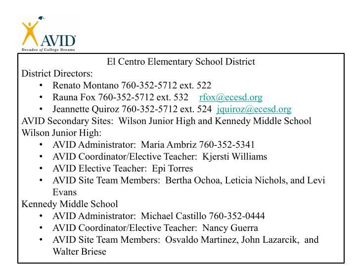 El Centro Elementary School District