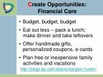 c reate opportunities financial care