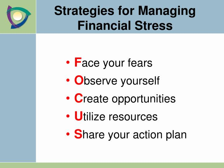 Strategies for Managing Financial Stress