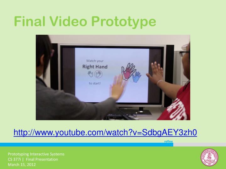 Final Video Prototype