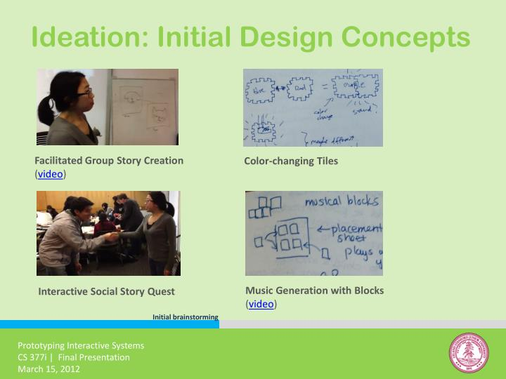 Ideation: Initial Design Concepts
