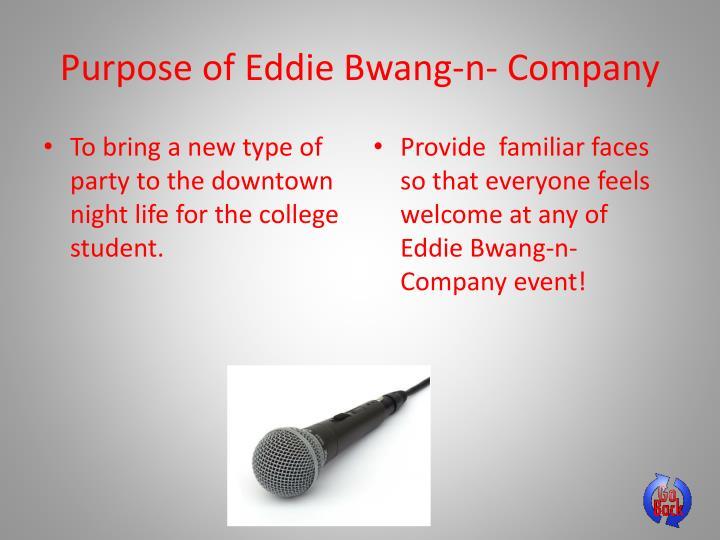 Purpose of Eddie