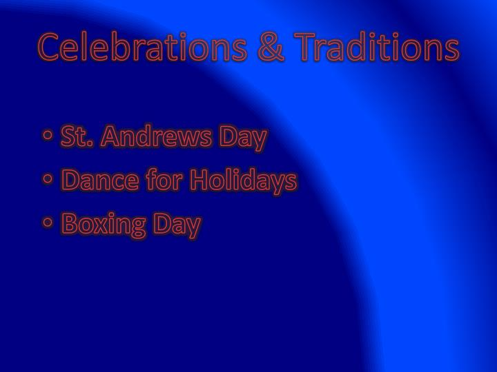Celebrations & Traditions