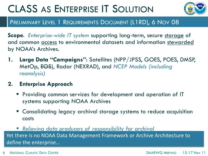 CLASS as Enterprise IT Solution