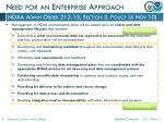 need for an enterprise approach1