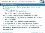 program management transition to ncdc jun 111