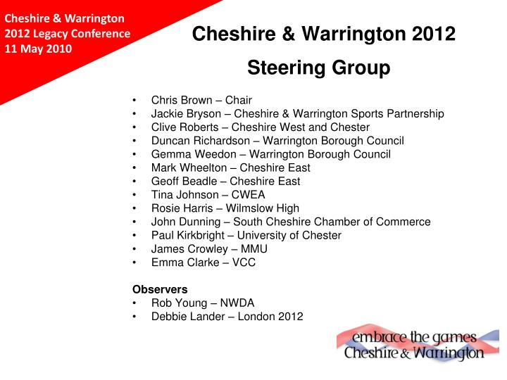 Cheshire & Warrington 2012