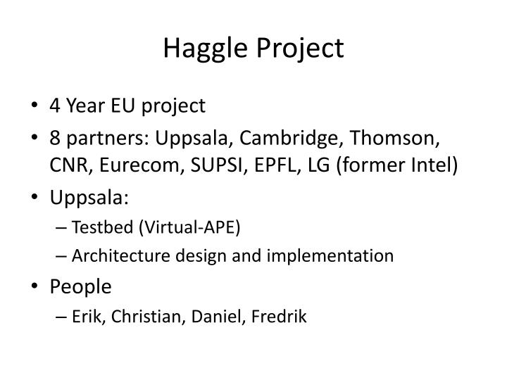Haggle Project