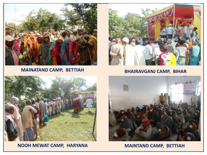 MAINATAND CAMP,  BETTIAH