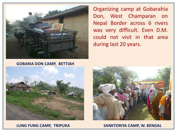 Organizing camp at