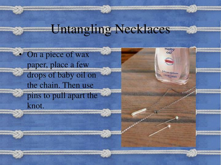 Untangling Necklaces