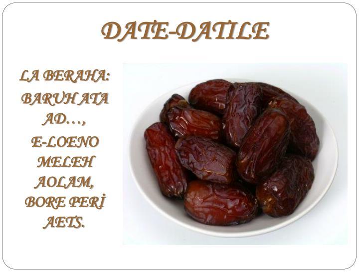 DATE-DATILE