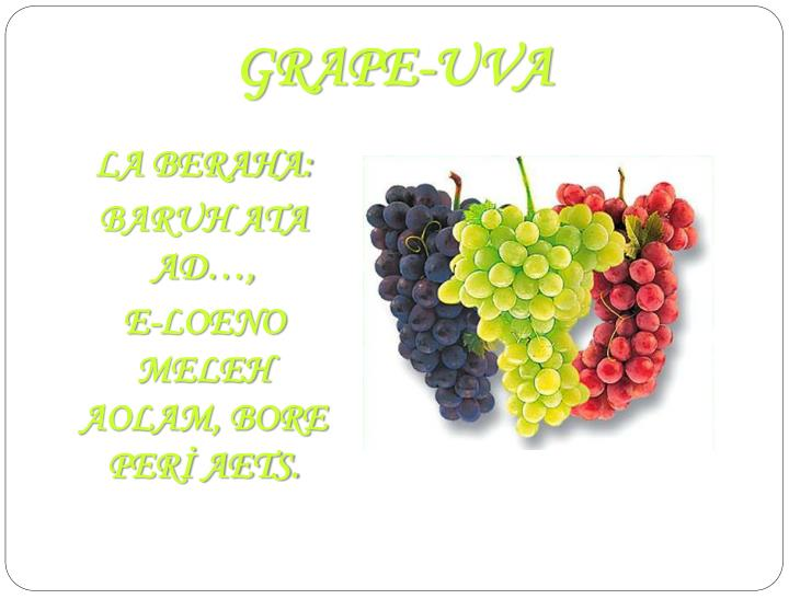 GRAPE-UVA