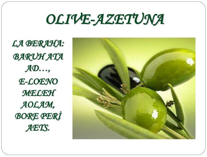 OLIVE-AZETUNA