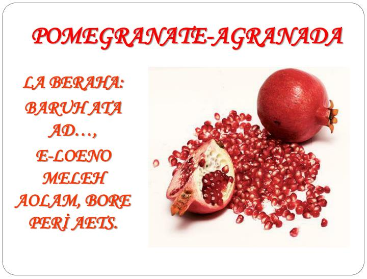POMEGRANATE-AGRANADA