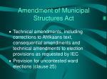 amendment of municipal structures act2