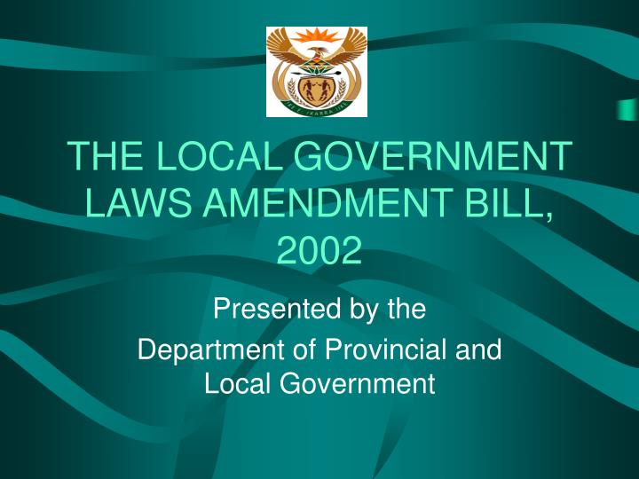 The local government laws amendment bill 2002