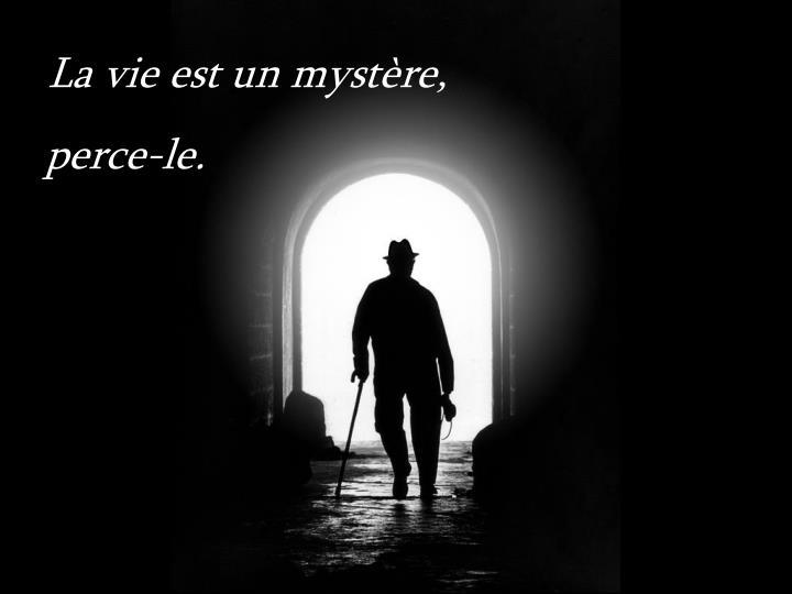 La vie est un mystère,
