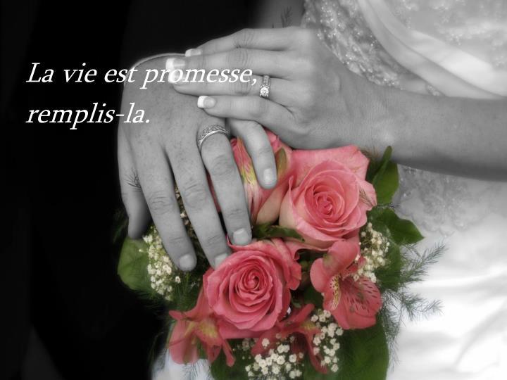 La vie est promesse,