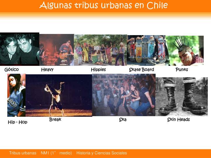 Algunas tribus urbanas en Chile