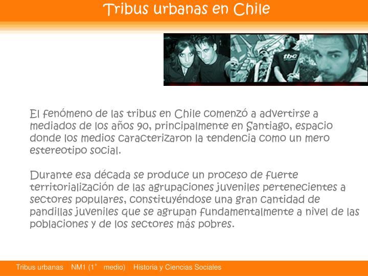 Tribus urbanas en Chile