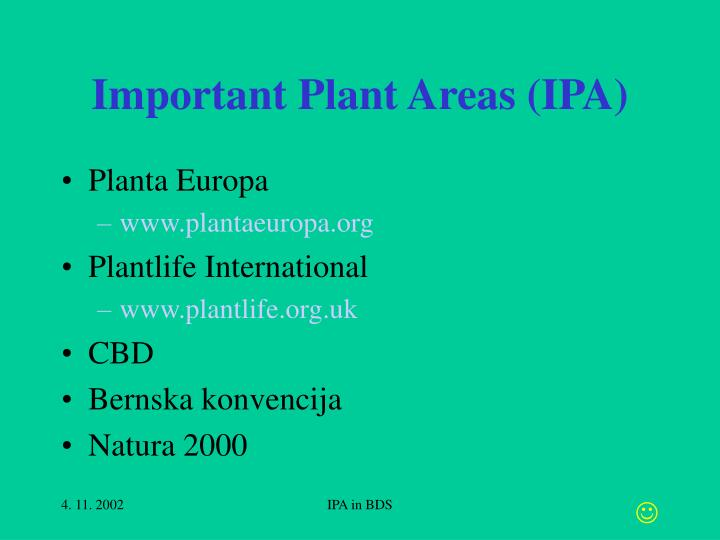 Important plant areas ipa
