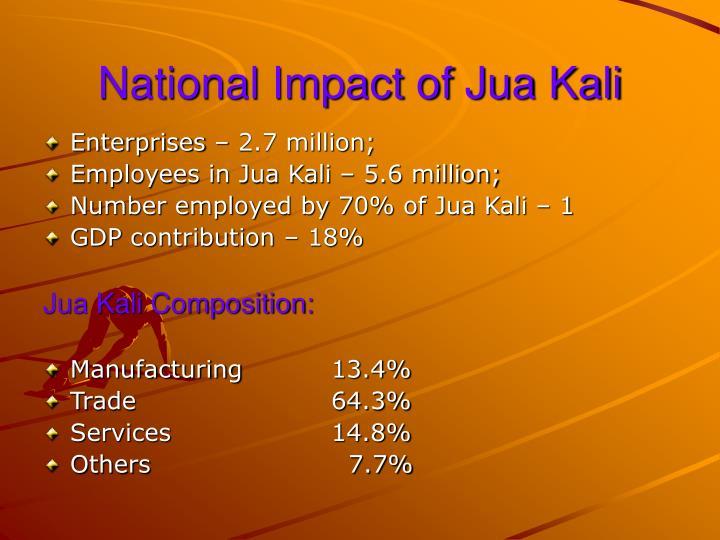 National Impact of Jua Kali