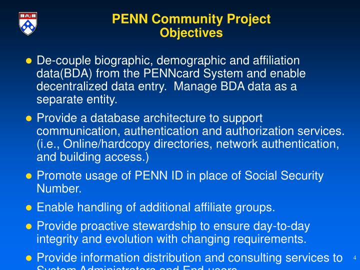 PENN Community Project