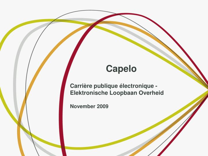 Capelo carri re publique lectronique elektronische loopbaan overheid november 2009