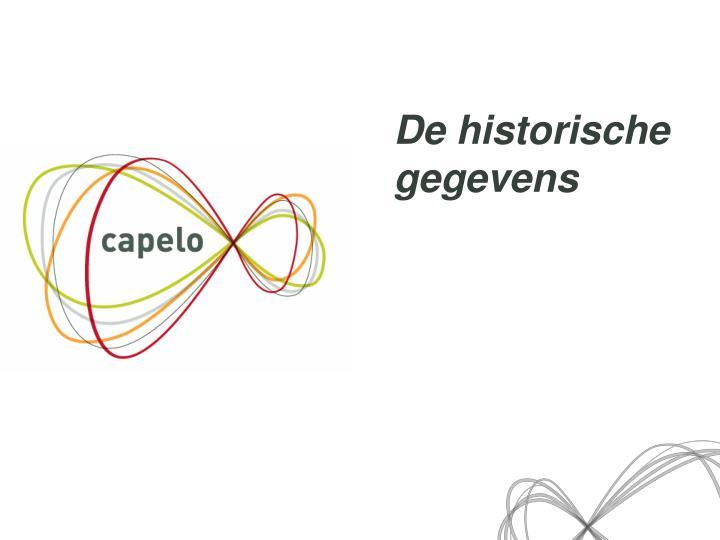 De historische gegevens