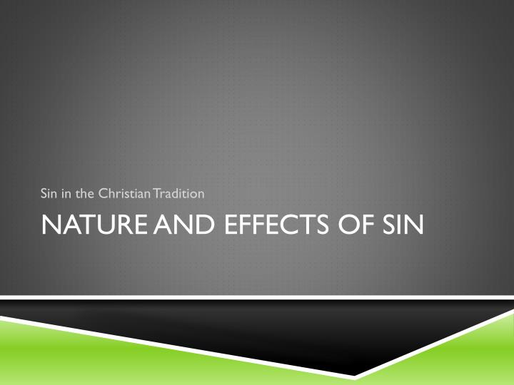 Sin in the Christian Tradition