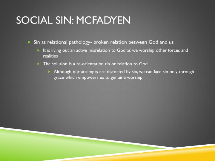 Social sin: