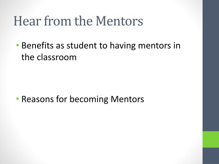 Hear from the Mentors