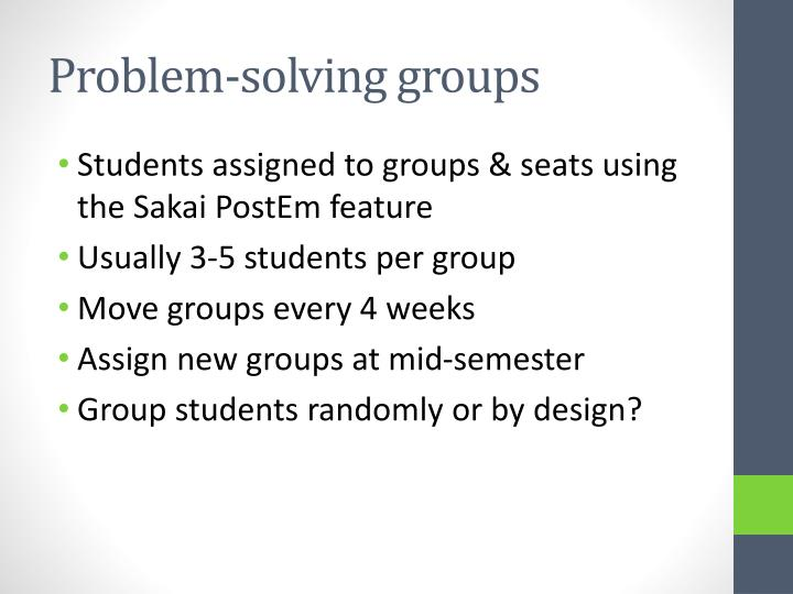 Problem-solving groups