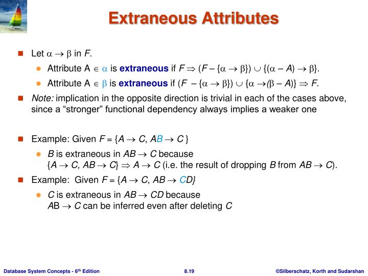 Extraneous Attributes