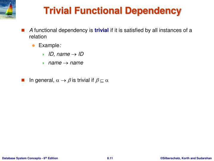 Trivial Functional Dependency
